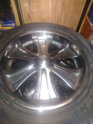 22inch rims and tires for Sale in Scappoose, OR