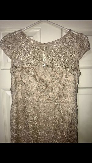 Beige color Adrianna papell size 4 dress prom dress for Sale in Alexandria, VA