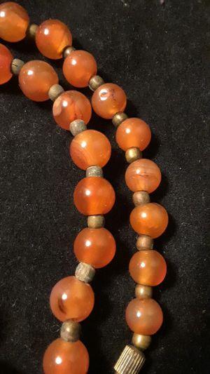 Antique authentic Chinese orange jade beaded necklace for Sale in Uvalde, TX