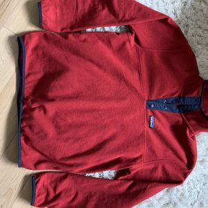 Patagonia Size M 1/4 Button Down Fleece Pullover Jacket- Red for Sale in University Place, WA
