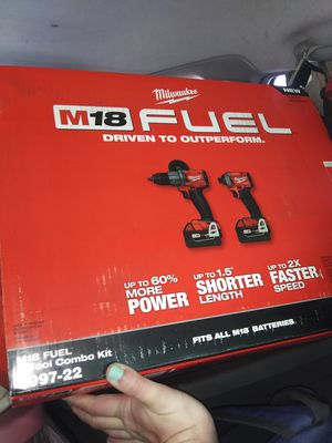 Milwaukee M18 FUEL 2-Tool Combo Kit- Hammer/Impact Drills for Sale in Oklahoma City, OK