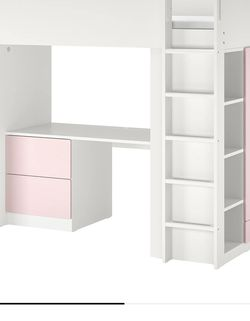 IKEA Twin Bunk bead White/Pink for Sale in Hollywood,  FL