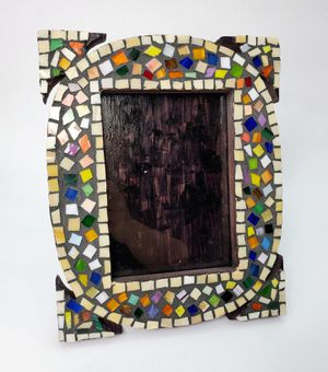 Artistic Handmade Multi-colored Mosaic Tabletop 5x7 Photo Frame for Sale in Trenton, NJ