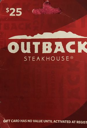 $25 Giftcard to Outback Steakhouse for Sale in Framingham, MA