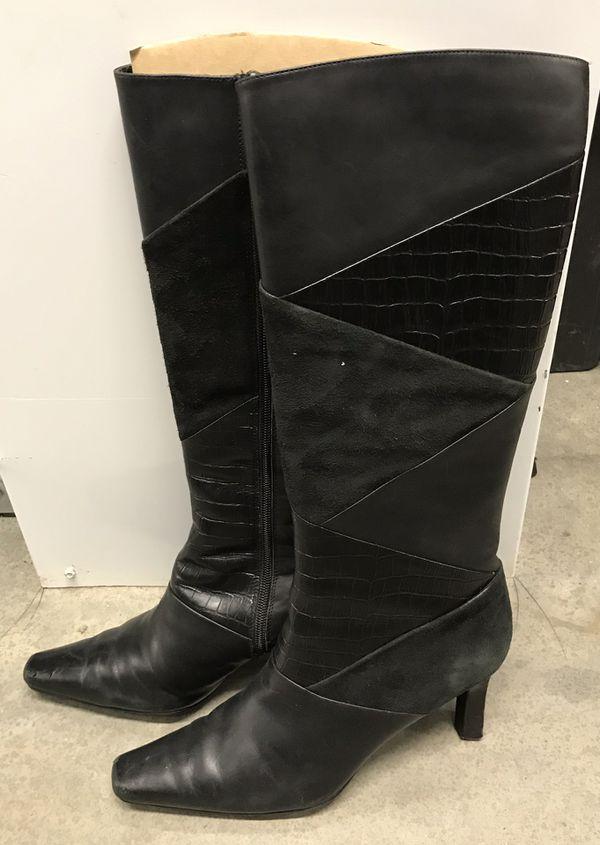Style & Co. Women's Black Knee Calf Boot
