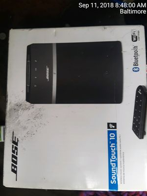 bose sound touch 10 for Sale in Baltimore, MD