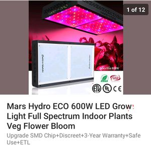 600w. Led grow light Marz for Sale in Boston, MA