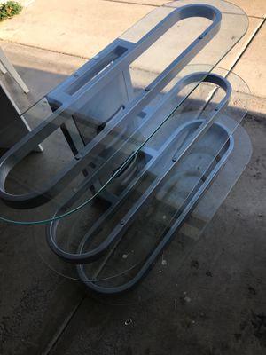 Bello tempered glass tv stand for Sale in Oakley, CA