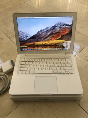 White Apple MacBook A1342 Core2 Duo 2.26GHz 4GB RAM 128GB SSD macOS High Sierra, Office Pro 2019 for Sale in Miami, FL