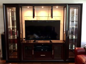 Beautiful Back-lit Entertainment Center for Sale in Rockville, MD