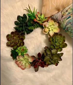 Beautiful Succulent Wreath for Sale in Mableton, GA