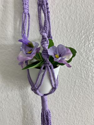 MINI 💜 plant hanger with artificial plant for Sale in Laguna Hills, CA