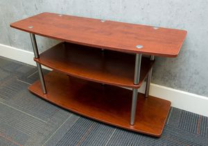 Maple / brushed metal TV stand for Sale in San Francisco, CA
