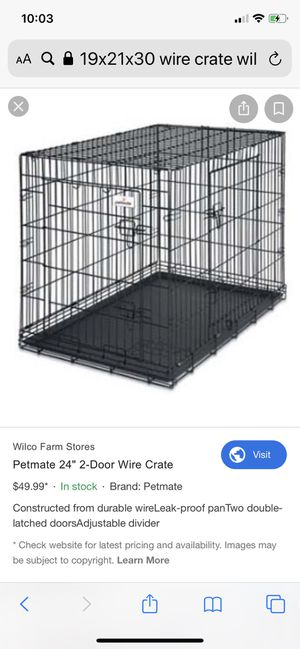 Dog crate- year old limited use for Sale in Tacoma, WA