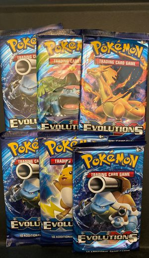 Pokemon XY Evolutions booster packs factory sealed for Sale in Modesto, CA
