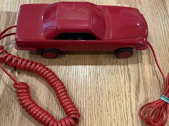 Vintage Dialfone Red Car Land Line Plug In Phone for Sale in Beaverton,  OR