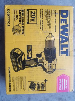 20 V DeWalt Brushless Drill with 2 batteries and Charger Brand NEW for Sale in Bakersfield, CA