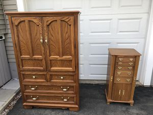 Armoire and Jewelry Armoire with Mirror for Sale in North Andover, MA
