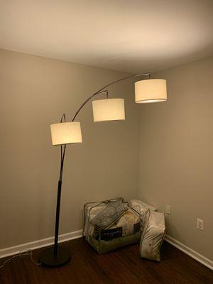Floor lamp w 3 lights, almost new for Sale in Alexandria, VA