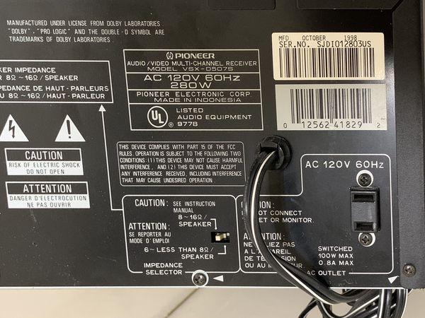 Pioneer Audio/Video Multi-Channel Receiver VSX-D507S Digital Signal Processor