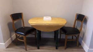 Antique table and 2 chairs for Sale in Fort Lauderdale, FL