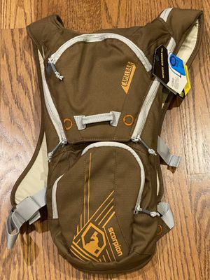 NEW Camelbak Scorpion Hydration Water Carrier Backpack Brown w/ 2 Liter Bladder for Sale in La Mesa, CA