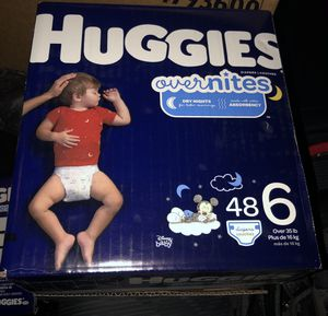 HUGGIES OVERNITES DIAPERS NEW for Sale in Laveen Village, AZ