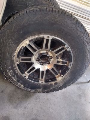 16in nexten truck tires and rims. Tires are in great shape rims need to be cleaned up. Rims fit on a Dodge Dakota. Asking 900 for the set or OBO. for Sale in Pittsburg, KS