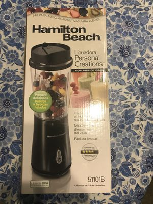 Hamilton Beach Personal Creations Blender with Travel lid for Sale in Moreno Valley, CA