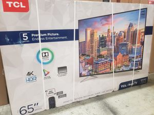 """65"""" TCL 65S513 4K UHD HDR ROKU SMART TV 120HZ 2160P *FREE DELIVERY* for Sale in Lakewood, WA"""