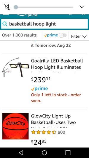 Basketball Hoop Light for Sale in Kissimmee, FL