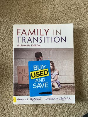Family In Transition - Sixteenth Edition - By Arlene S Skolnick and Jerome H Skolnick for Sale in Columbia, MO