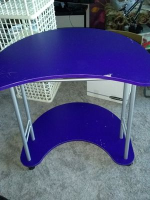 Purple desk rolling Asis some sratches for Sale in Fort Belvoir, VA