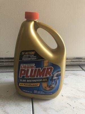 New liquid plumr clog destroyer gel 80oz for Sale in Miami, FL