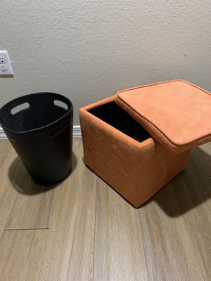 Storage Bench and Basket, both great condition, good quality for Sale in Tempe, AZ