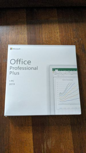 Microsoft Office Professional Plus 2019 1 PC with DVD new and sealed for Sale in San Jose, CA