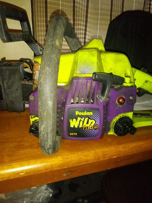 Poulan wild thing 2375 chainsaw for Sale in Indianapolis, IN
