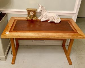 Handmade solid wood unique desk table for Sale in Bethesda, MD