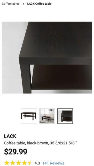 IKEA Lack black coffee table for Sale in Dublin, CA