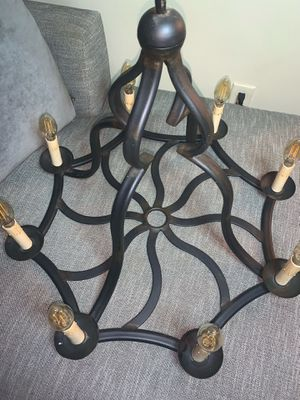 Wright Iron Chandelier with wrought iron sconces for Sale in Hartsdale, NY