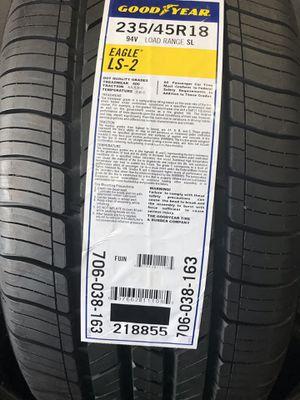 4 Llantas Nuevas Goodyear 235/45/18 price fixed for Sale in Bloomington, CA