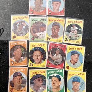 1959 Topps Baseball Lot (14 Cards) for Sale in Phoenix, AZ