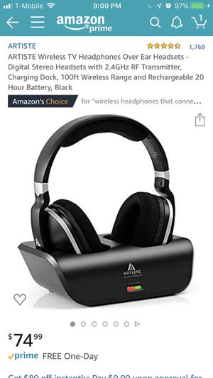 Wireless tv headphones for Sale in San Jose, US