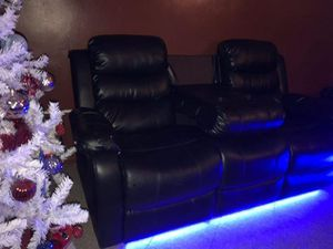 Black sofa with led lights for Sale in The Bronx, NY