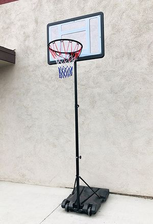 """(New in box) $65 Junior Kids Sports Basketball Hoop 31x23"""" Backboard, Adjustable Rim Height 5' to 7' for Sale in Whittier, CA"""