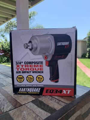 "Earthquake XT Composite 3/4"" Xtreme Torque Air Impact Wrench 1500 ftlbs torque for Sale in Chula Vista, CA"