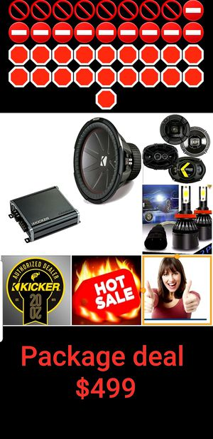Car audio Package deal kicker for Sale in San Diego, CA