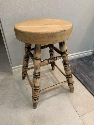 Wooden swivel stool for Sale in Hesperia, CA