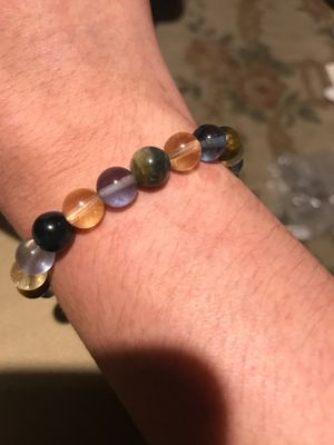 Yellow and blue Tigers eye, citrine, blue fluorite / Sacral Chakra throat Chakra bracelet for Sale in Tucson, AZ