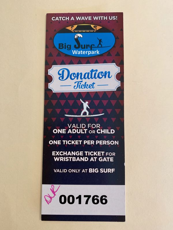 Big Surf Waterpark ticket (Adult or Child)